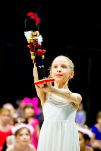 The Nutcracker doll being held - Northamptonshire School of Dance